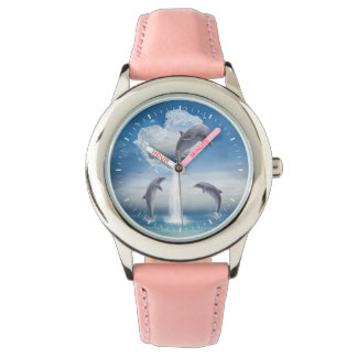 The Heart Of The Dolphins Wrist Watch