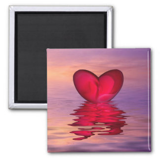 The heart of the ocean 2 inch square magnet