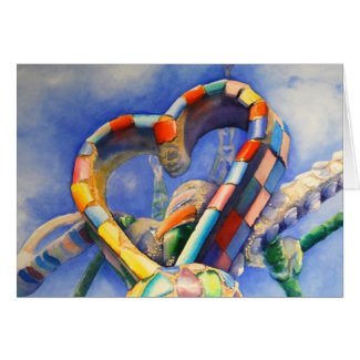 """""""The Heart of Watts"""" Greeting Card"""