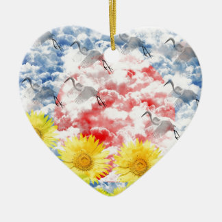 The heart which ranges the empyrean ceramic ornament
