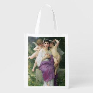 The Heart's Awakening, 1892 Reusable Grocery Bag