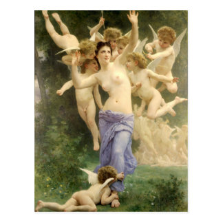 The Heart's Awakening by Bouguereau Postcards