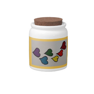 The Hearts Candy Jar/Container Candy Jar