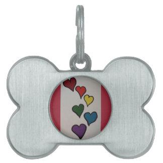 The Hearts Dog Tag
