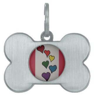 The Hearts Dog Tag Pet Name Tags