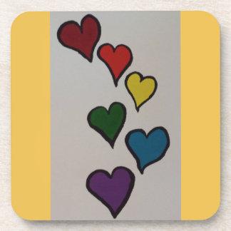 The Hearts Plastic Coaster