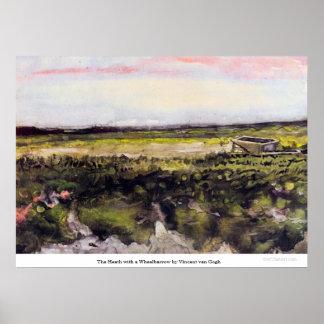 The Heath with a Wheelbarrow by Vincent van Gogh Print