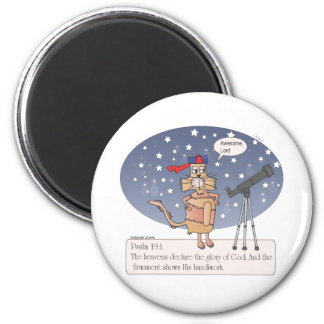 The Heaven Declares your Glory 2 Inch Round Magnet