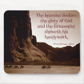 The heavens declare. mouse pad