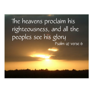 The heavens declare | Psalm 97 v 6 Post Cards