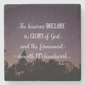 The Heavens Declare the Glory of God Stone Coaster
