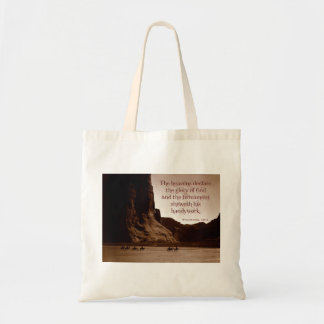The heavens declare. tote bag