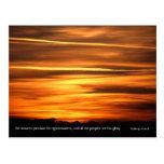The heavens declare   v2   Psalm 97 v 6 Postcard