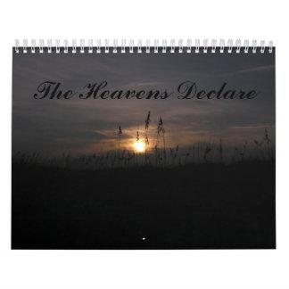 The Heavens Declare Wall Calendar