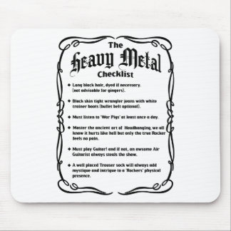 The Heavy Metal Checklist Mouse Pad