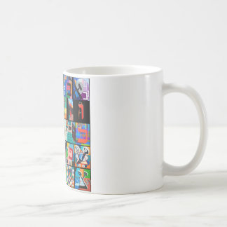 The Hebrew alphabet - alephbet Classic White Coffee Mug