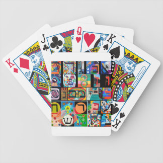 The Hebrew alphabet - alephbet Bicycle Playing Cards