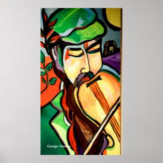 The Hebrew Fiddler by Georgie Hanson Poster