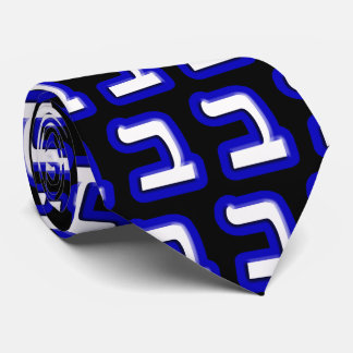 The Hebrew Letter Beit Neck Tie