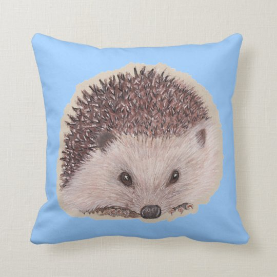 The Hedgehog (Blue) Throw Pillow