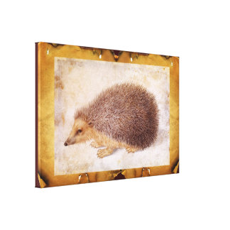 THE HEDGEHOG STRETCHED CANVAS PRINT