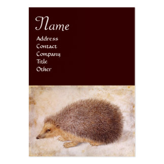 THE HEDGEHOG Monogram,Pearl paper Large Business Cards (Pack Of 100)
