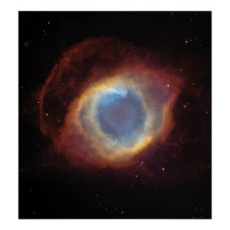 The Helix Nebula- a Gaseous Envelope Poster