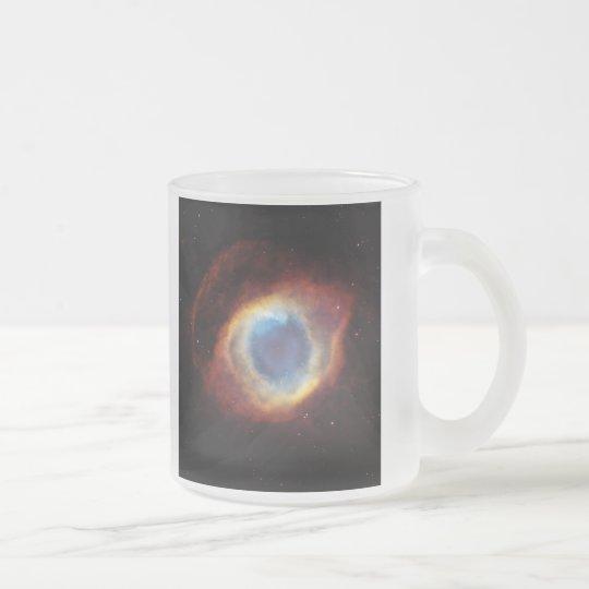 The Helix Nebula NGC 7293 Caldwell 63 Frosted Glass Coffee Mug