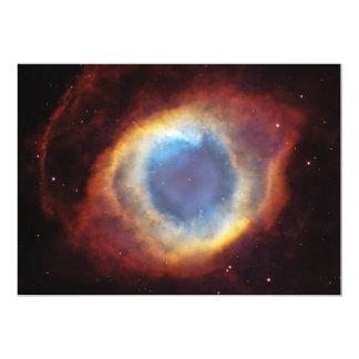 "The Helix Nebula NGC 7293 Caldwell 63 5"" X 7"" Invitation Card"