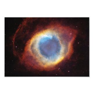 "The Helix Nebula NGC 7293 Caldwell 63 3.5"" X 5"" Invitation Card"