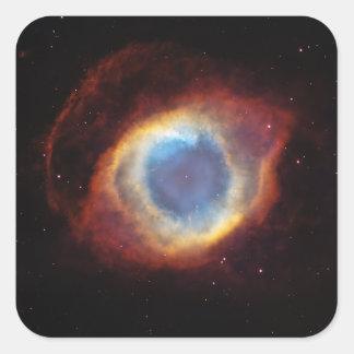 The Helix Nebula NGC 7293 Caldwell 63 Square Sticker