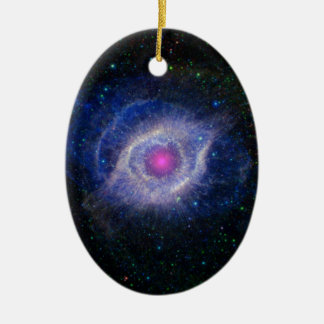The Helix Nebula: Unraveling at the Seams Ceramic Ornament