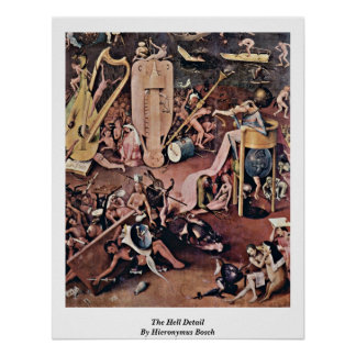 The Hell Detail By Hieronymus Bosch Print