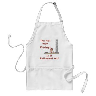 The Hell With Friday Apron apron