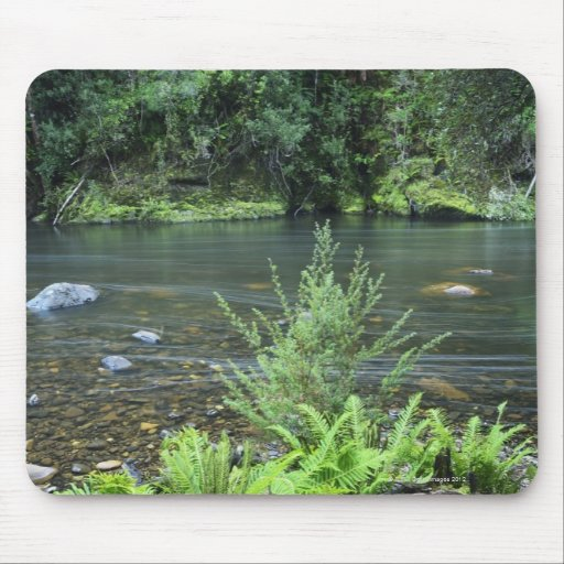 The Hellyer River flows peacefully through a Mouse Pad
