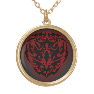 The Helm of The Nether Gold Plated Necklace