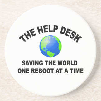 The Help Desk - Saving The World Drink Coasters