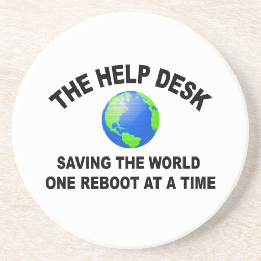 The Help Desk - Saving The World Drink Coasters