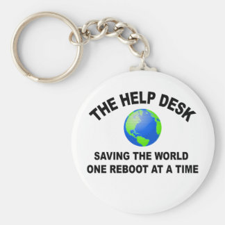 The Help Desk - Saving The World Keychain