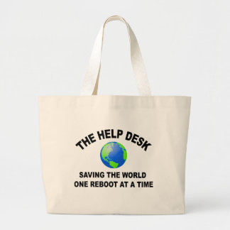 The Help Desk - Saving The World Large Tote Bag