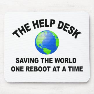 The Help Desk - Saving The World Mousepads