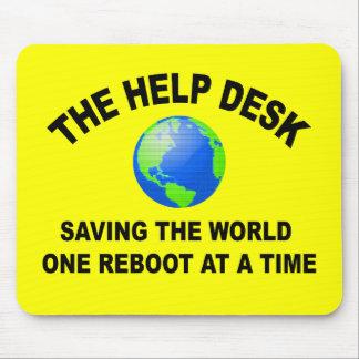 The Help Desk - Saving The World Mousepad