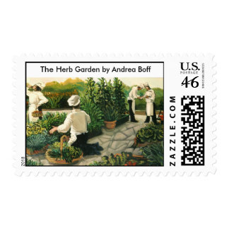 The Herb Garden by Andrea Boff Stamps