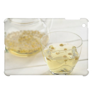 The herb tea which a glass teapot and a cup iPad mini case
