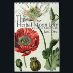 "The Herbal Moon Lore Botanical 12 Month Calendar<br><div class=""desc"">The Herbal Moon Lore Calendar is based on the names of the 12 full moons that occur within a year from the Farmers Almanac. Each moon month page, for this calendar, is titled with the name of the traditional name of the full moon that falls within that month. Because the...</div>"