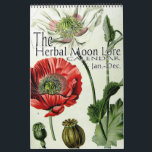 """The Herbal Moon Lore Botanical 12 Month Calendar<br><div class=""""desc"""">The Herbal Moon Lore Calendar is based on the names of the 12 full moons that occur within a year from the Farmers Almanac. Each moon month page, for this calendar, is titled with the name of the traditional name of the full moon that falls within that month. Because the...</div>"""