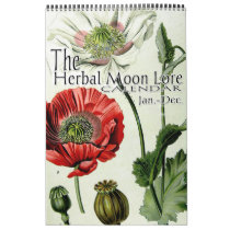 The Herbal Moon Lore Botanical 12 Month Calendar