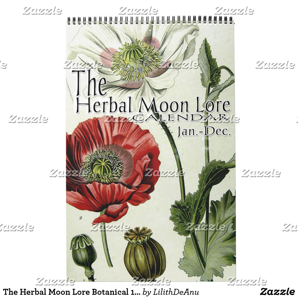 The Herbal Moon Lore Botanical 12 Month Calendar