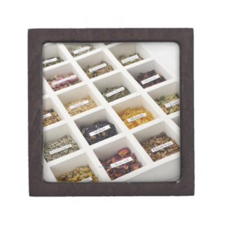 The herbs which a box contains