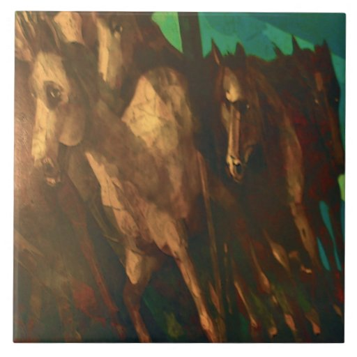 The Herd Large Square Tile